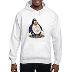 Peace Penguin Hooded Sweatshirt