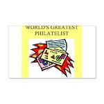 philatelist gifts t-shirts 22x14 Wall Peel