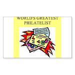 philatelist gifts t-shirts Sticker (Rectangle)