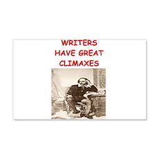 author and writers joke 22x14 Wall Peel