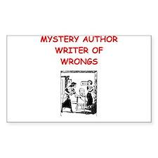 mystery writer author joke Decal