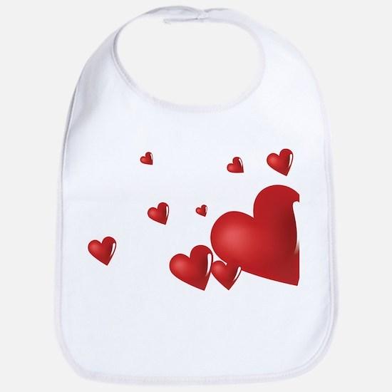 Hearts Bib