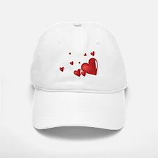 Hearts Baseball Baseball Cap