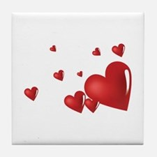 Hearts Tile Coaster