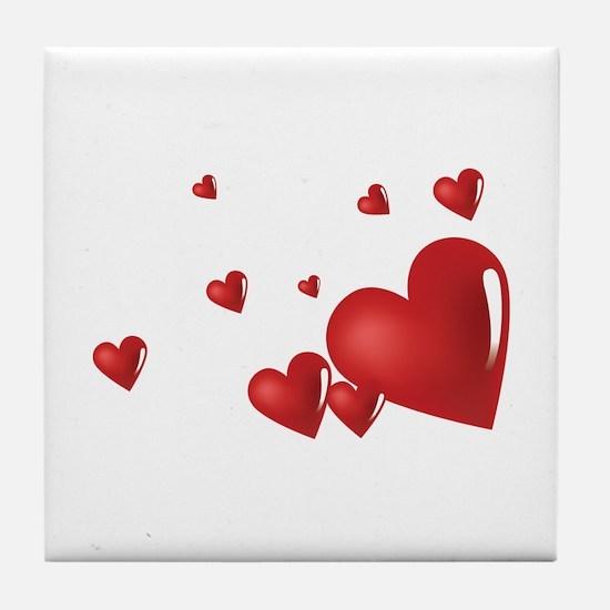 Hearts Tile Coaster