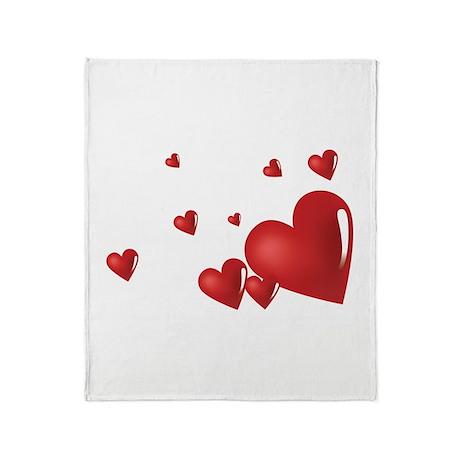 Hearts Throw Blanket