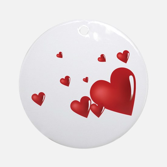 Hearts Ornament (Round)