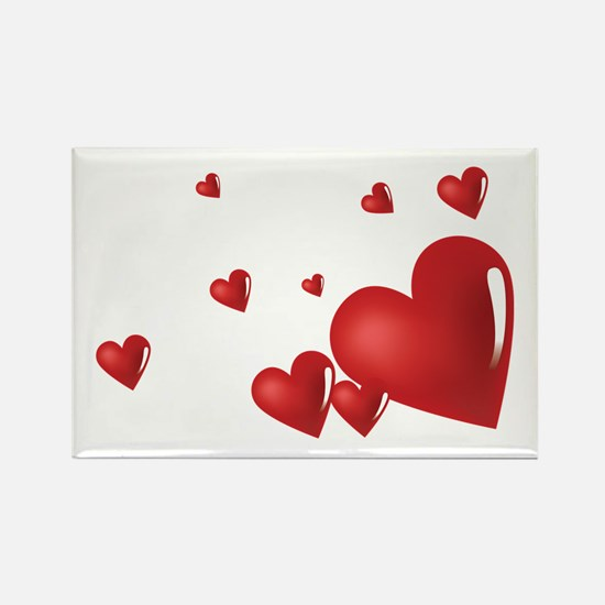 Hearts Rectangle Magnet