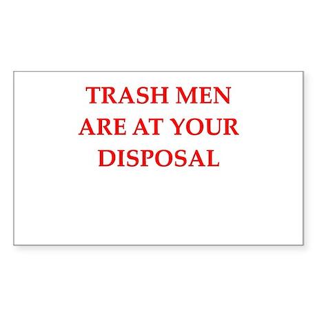 trash man joke Sticker (Rectangle 50 pk)