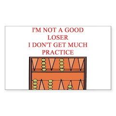 i love backgammon Sticker (Rectangle 10 pk)