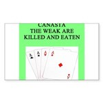 canasta player Sticker (Rectangle 50 pk)