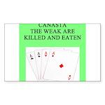 canasta player Sticker (Rectangle 10 pk)