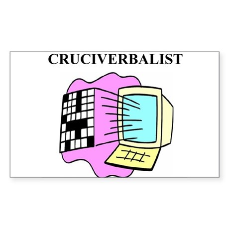 crossword gifts t-shirts Sticker (Rectangle 50 pk)