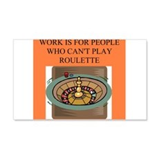 roulette gifts t-shirts 22x14 Wall Peel