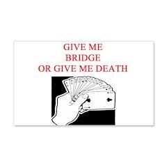 duplicate bridge player joke 22x14 Wall Peel