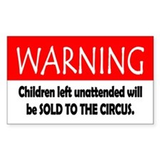 Child Warning Decal