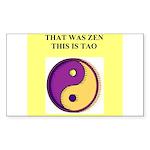 zen buddhist gifts and t0shir Sticker (Rectangle)
