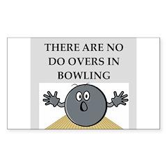 bowling Sticker (Rectangle 10 pk)