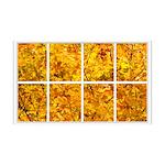 Golden Leaves Window 38.5 x 24.5 Wall Peel