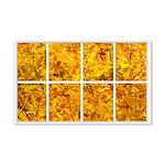 Golden Leaves Window 22x14 Wall Peel