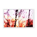 Raindrop Sunset Window 22x14 Wall Peel