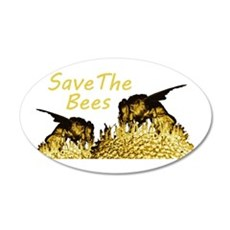 Save The Bees 22x14 Oval Wall Peel