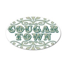 Couger Town 22x14 Oval Wall Peel