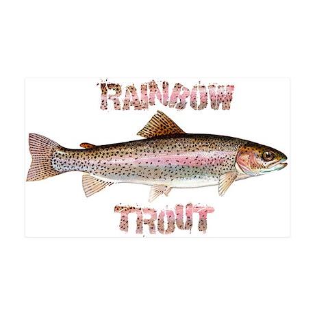 Rainbow Trout 38.5 x 24.5 Wall Peel