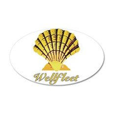 Wellfleet Shell 22x14 Oval Wall Peel
