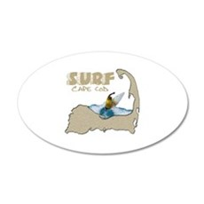 Surf Cape Cod 22x14 Oval Wall Peel