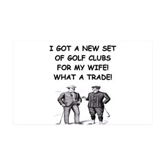 golf humor gifts and t-shirts 38.5 x 24.5 Wall Pee