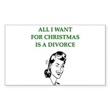 christmas divorce joke gifts Decal