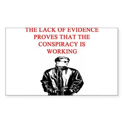 conspiracy theory Sticker (Rectangle)