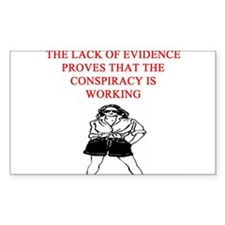 conspiracy theory Decal