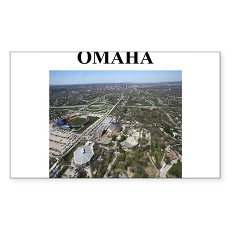 omaha gifts and t-shirts Sticker (Rectangle)