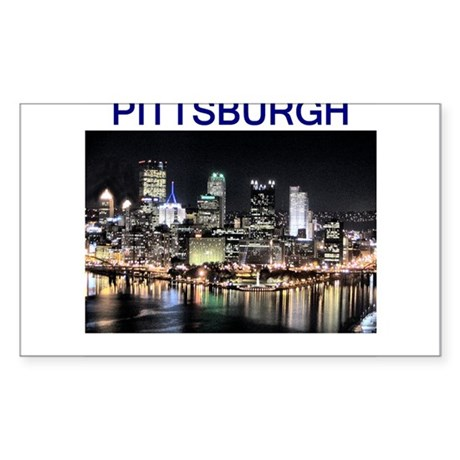 pittsburgh gifts and tee-shir Sticker (Rectangle)