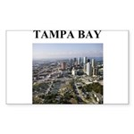 tampa bay gifts and t-shirts Sticker (Rectangle 50