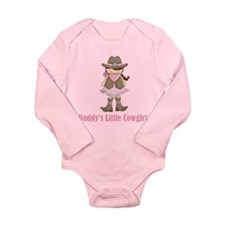 Daddy's Little Cowgirl Long Sleeve Infant Onesie