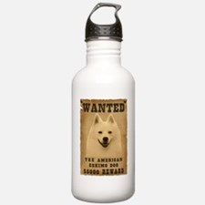 """Wanted"" American Eskimo Dog Water Bottle"
