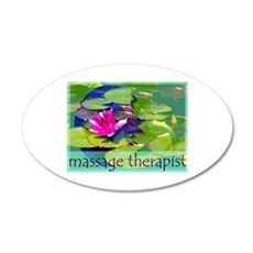 Massage Therapist / Waterlily Wall Decal