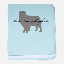 Australian Shepherd baby blanket