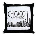 Chicago My Town Throw Pillow