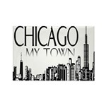 Chicago My Town Rectangle Magnet (10 pack)