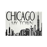 Chicago My Town Rectangle Magnet