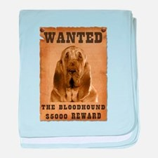 """""""Wanted"""" Bloodhound baby blanket"""