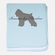 Bouvier des Flandres baby blanket