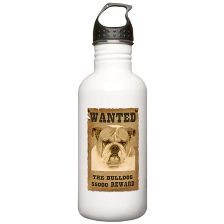 """""""Wanted"""" Bulldog Stainless Water Bottle 1.0L"""