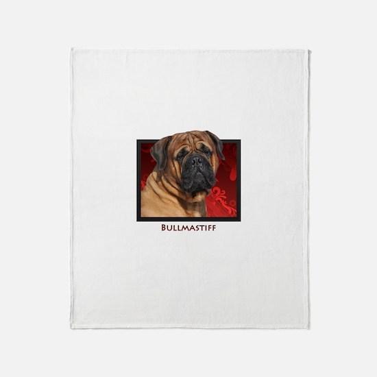 Bullmastiff Throw Blanket