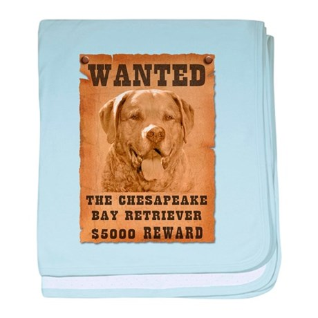 """Wanted"" Chesapeake Bay Retri baby blank"