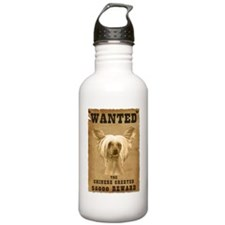 """Wanted"" Chinese Crested Water Bottle"